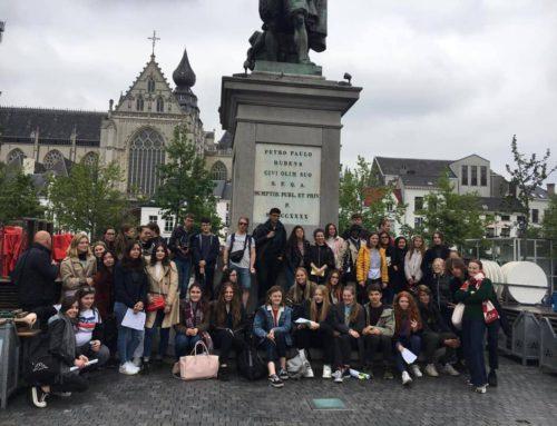 Bezoek aan Antwerpen met de leerlingen uit de Waalse school CSSJ uit Fléron.